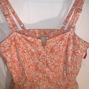 Pink orange lace back sundress